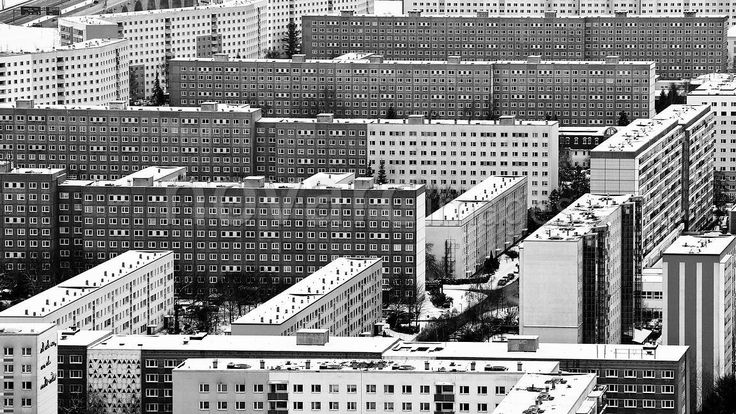Prefabricated buildings, Jena, Thuringia, Germany