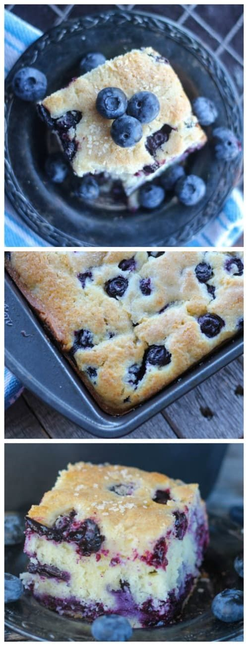 Buttermilk Blueberry Explosion Cake!  #buttermilk #blueberry #cake #snack cake #summer #spring #baking #dessert