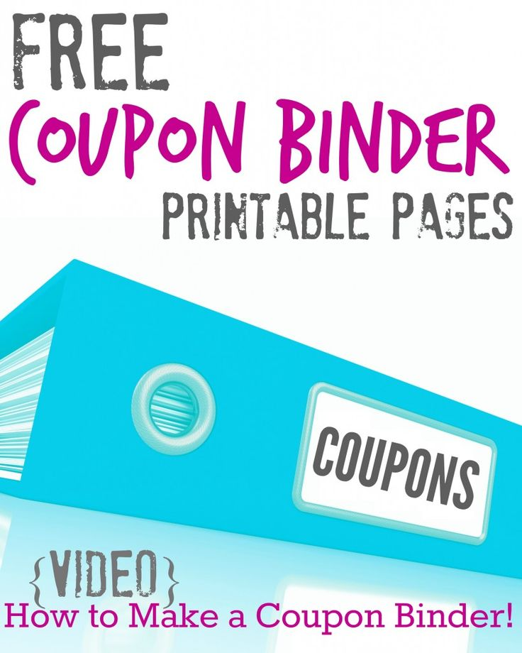 Everything you need to create your own Coupon Binder including FREE Printable Pages and a How To Video!