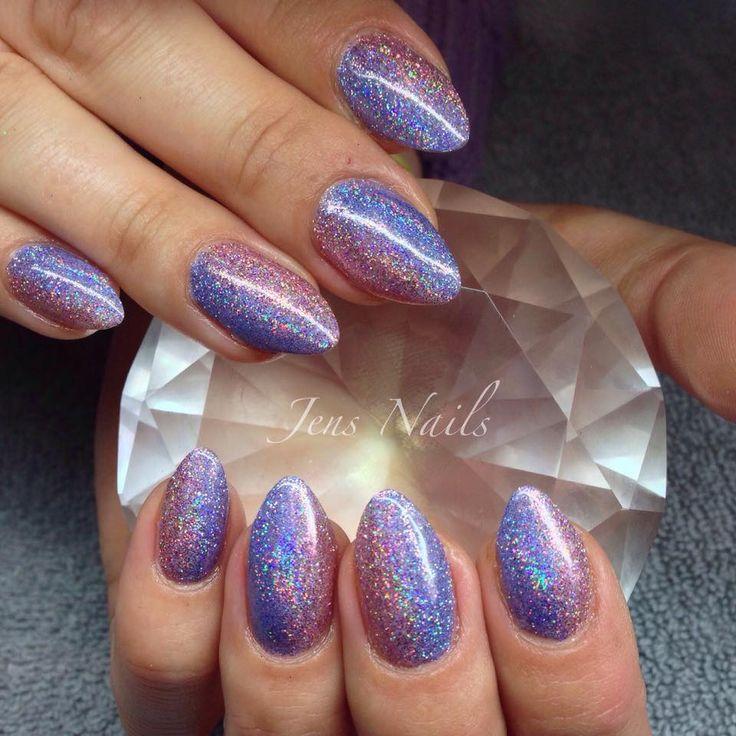 #glitterfade with #lecente mortar and waterfall #firework #glitters by Jenny Nagorski along with #cndshellac  #lovelecente #nailart purpleglitter #lilacglitter #glitternails
