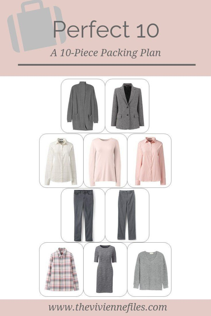 A Travel Wardrobe 10 Piece Packing Plan Capsule Wardrobe 10 Item Wardrobe Travel Capsule Wardrobe