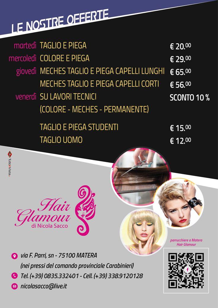 Tutte le offerte di Hair Glamour di Nicola Sacco. Matera
