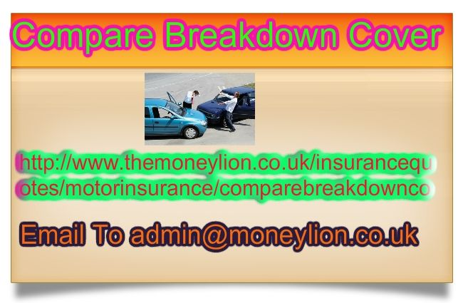http://www.themoneylion.co.uk/insurancequotes/motorinsurance/comparebreakdowncover email to admin@moneylion.co.uk Compare Breakdown Cover