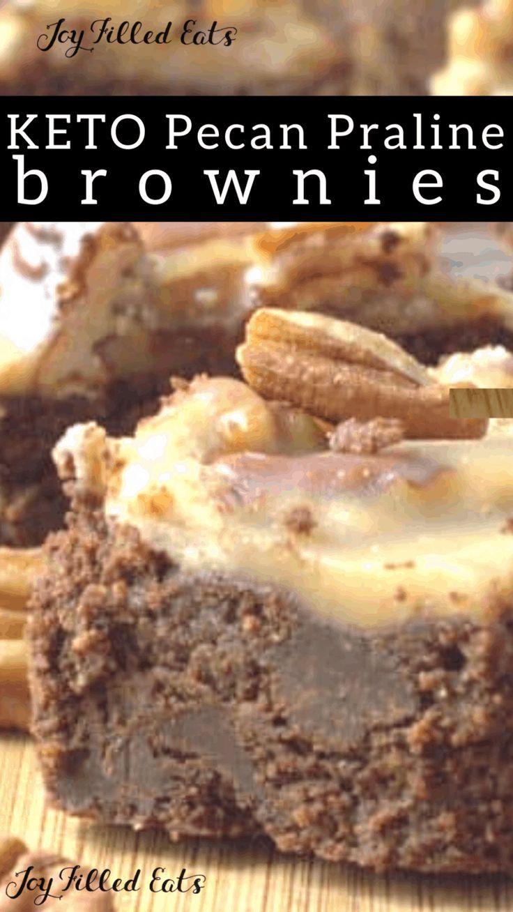 Keto Pecan Praline Brownies The Best Brownie Ever Rich Full Of