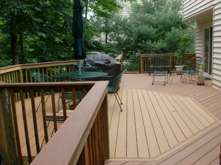 Two Tone Deck Ideas Two Tone Deck Finish Provides A