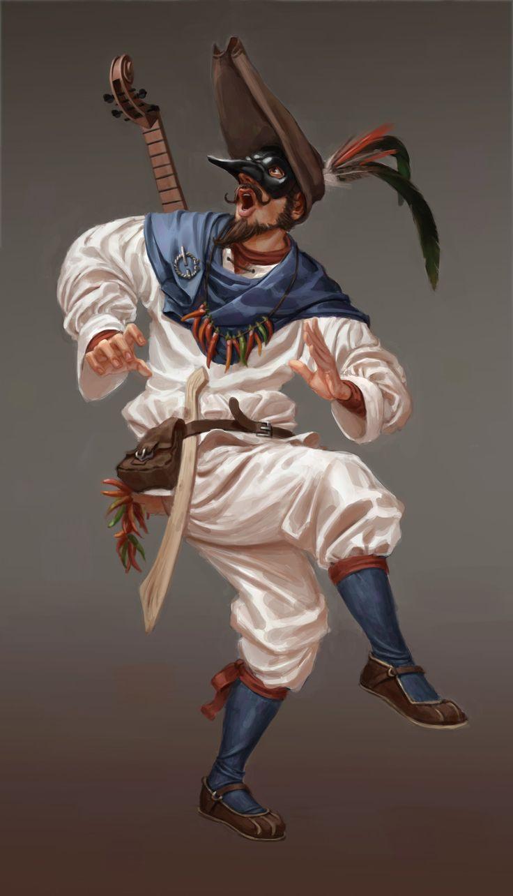 Zanni, the smart servant, Riccardo Moscatello on ArtStation at https://www.artstation.com/artwork/A4Aye