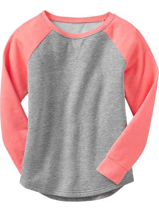 Old Navy | Girls Raglan-Sleeve Sweatshirts