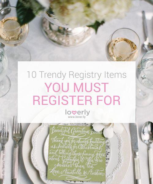 84 best wedding registry images on pinterest wedding for Top 10 wedding registry stores