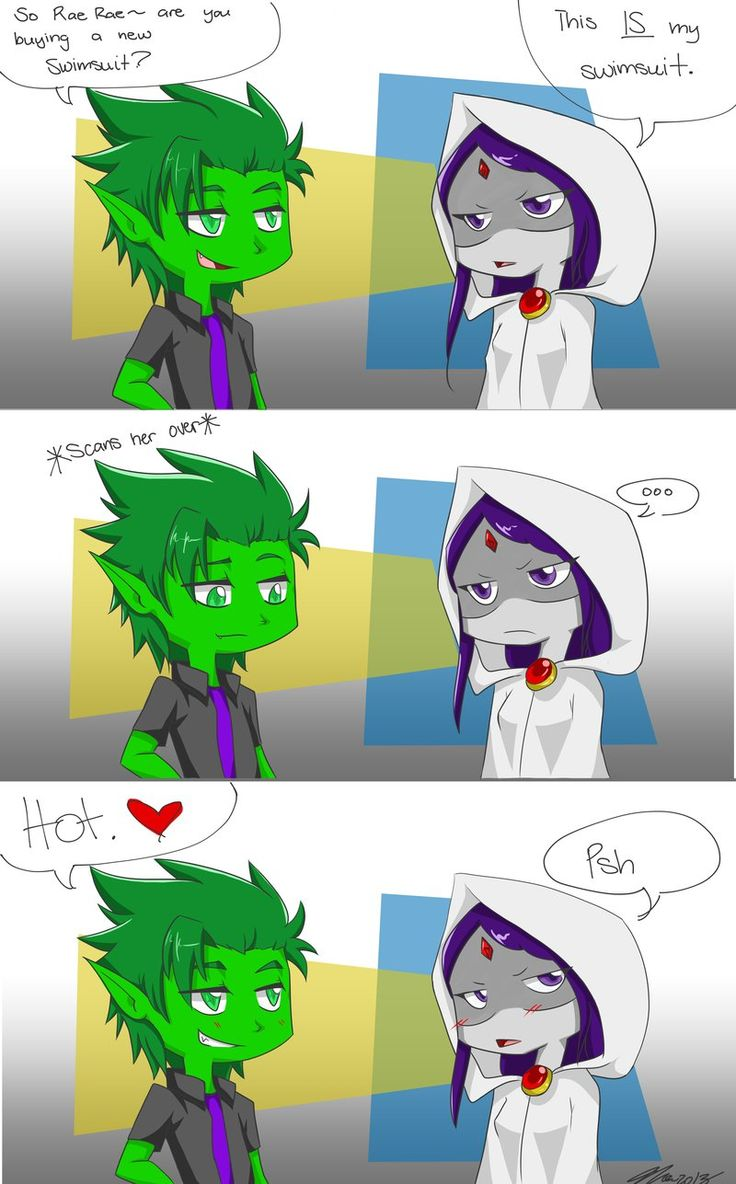 raven and beast boy cunt