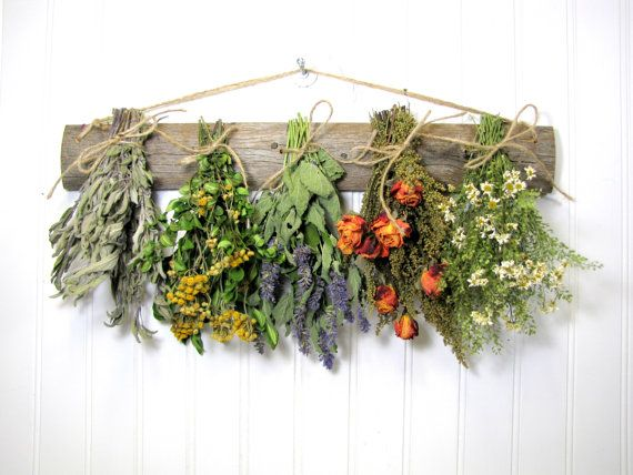 Dried Herb Rack Rustic Drying Rack for by summersweetboutique