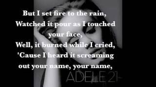 Adele - Set Fire to the Rain Lyrics, via YouTube.  LOOOVE HER!! ♥