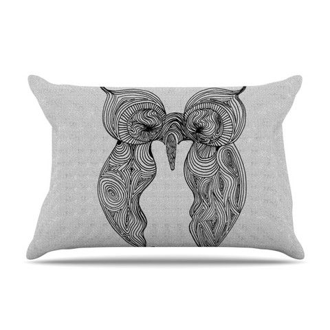 "This Belinda Gillies ""Owl"" pillow case, is just as bunny soft as our duvet. It's made of microfiber velvety fleece. If this - artwork doesn't get you to dreamland faster than a six-year old after a day at Disneyland then this super soft fleece pillow case, decorated with Belinda Gillies ""Owl"", surely will."