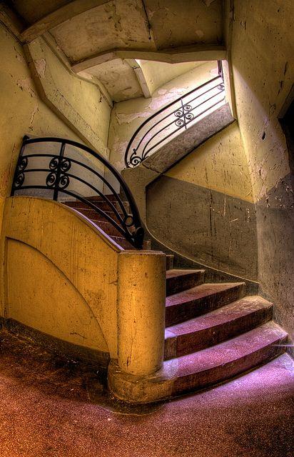Abandoned Stairway     .....rh