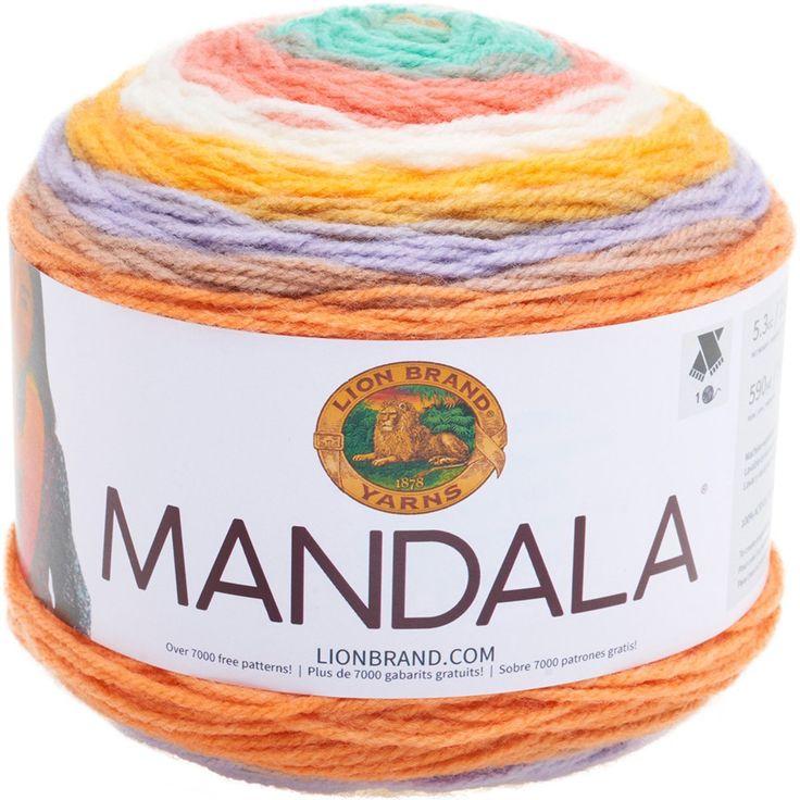 25 besten Mandala Yarn Bilder auf Pinterest | Häkeln, Schal häkeln ...