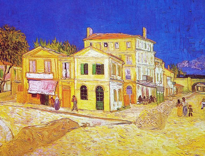 Das Gelbe Haus - 1888 - Van Gogh - Opere d'Arte su Tela - Listino prodotti - Digitalpix - Canvas - Art - Artist - Painting
