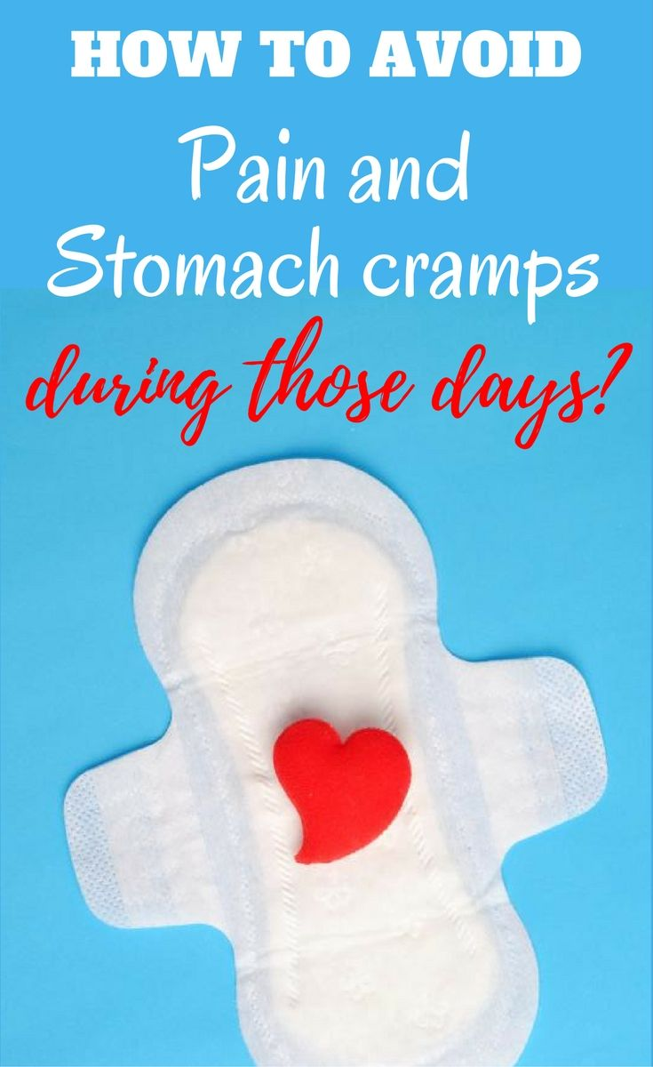 Avoid pain and stomach cramps during menstruation