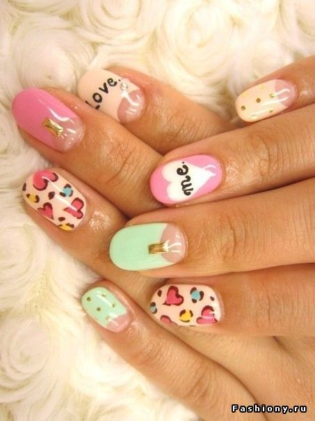 36 best nail cuteuas lindas images on pinterest nail art multi color nail art ideas for summer 2012 prinsesfo Images