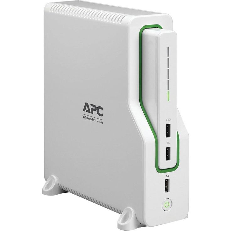APC BGE50ML Network UPS & Mobile Power Pack. 2+ hours of network backup power to stay connected to the Internet during storms & outages;  Removable battery pack charges a smartphone 5 times before needing to recharge itself;  Convenient mobile charging via 3 USB ports, including a smart charging port that recognizes connected devices to maximize charging speed;  Surge, spike & lightning protection ensures peace of mind;  Flexible installation for any home or office setup;  Rotating...