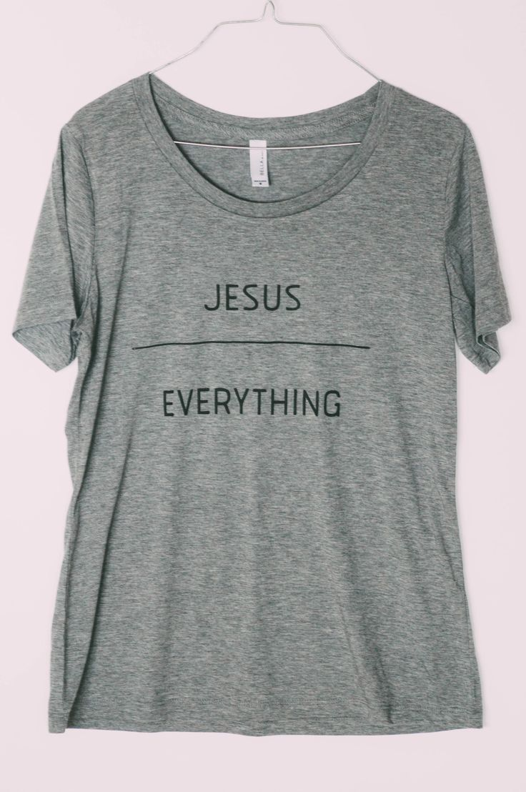 Shirt design words ideas -  Jesus Over Everything Tee