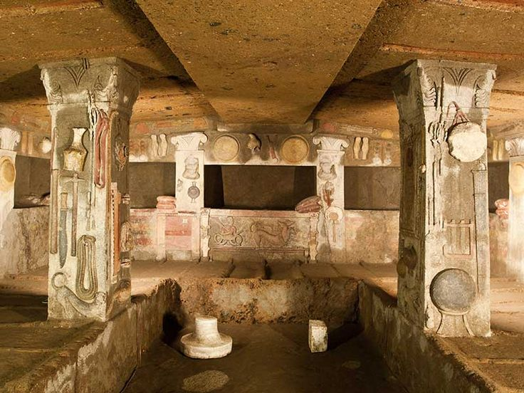 """archatlas: """"  Necropolis of Cerveteri A major centre of Etruscan civilisation that was declared a UNESCO World Heritage Site in 2004, the Necropolis stretches for more than two kilometres. This..."""