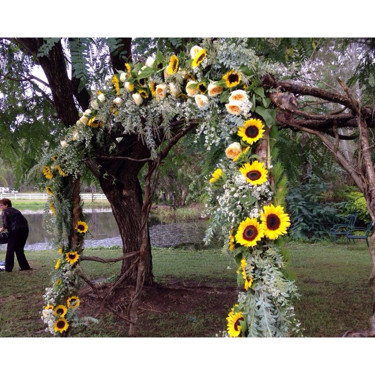   country wedding    Flower archway at yesterday's country wedding