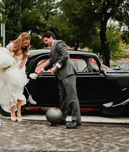 #peeptoes de Jorge Larrañaga, en el mismo #tono de su #vestido #wedding #shoes #boda #zapatos #moda #novia
