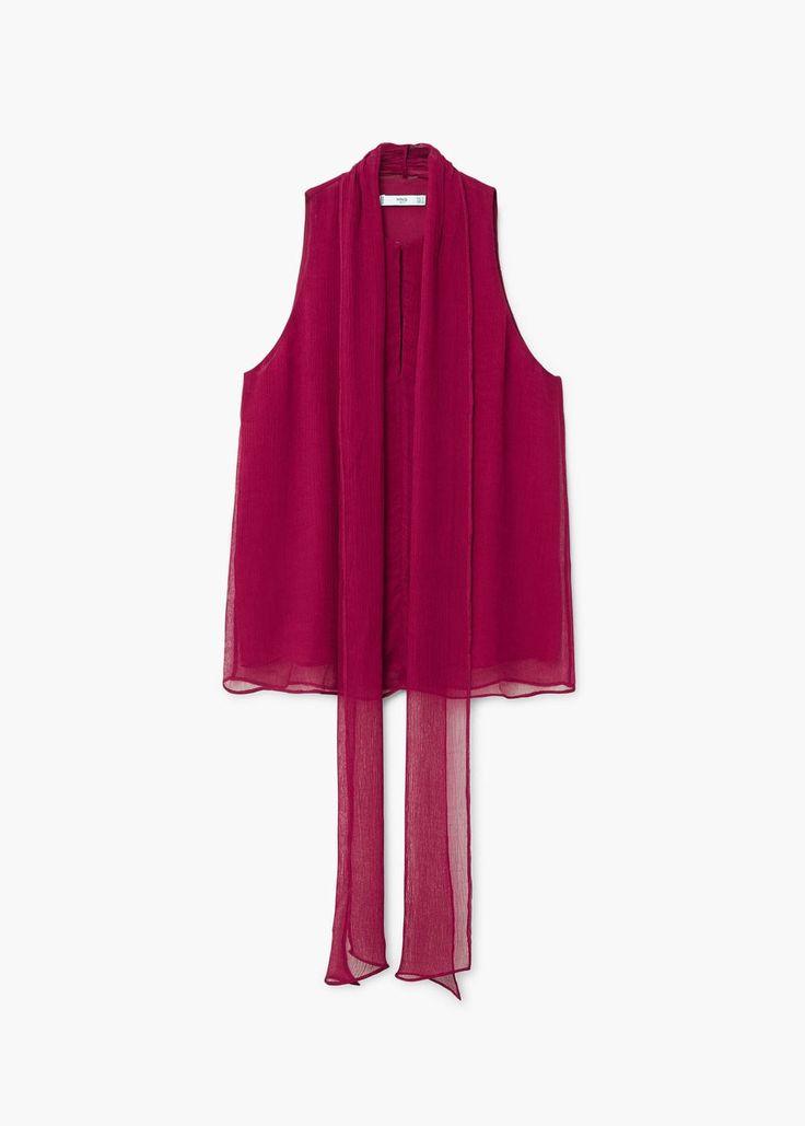 Lace flowy top | MANGO