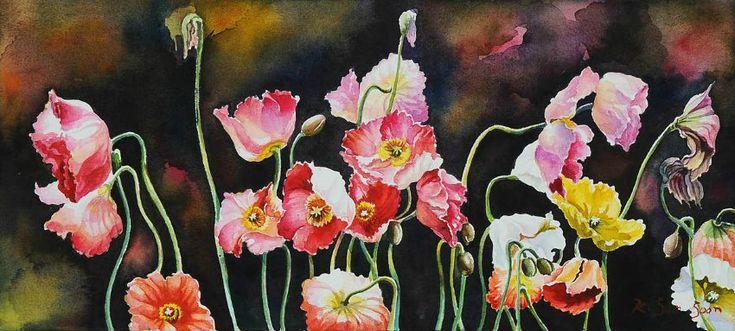 Цветочные акварели Kim Sun Soon . Обсуждение на LiveInternet - Российский Сервис Онлайн-Дневников