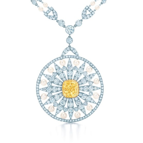 Tiffany blue book 326 pinterest an emblem of natures glorious gifts pendant with a cushion cut tiffany yellow diamond mozeypictures Image collections