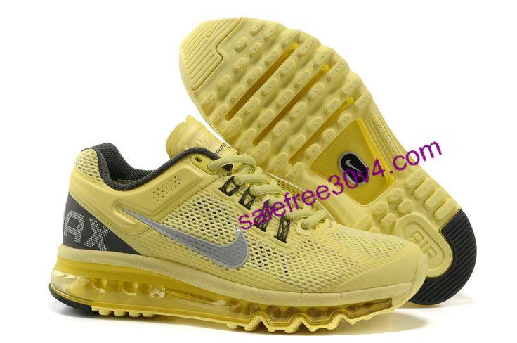 Cheap Air Max 2013 Yellow Grey Black     #Yellow  #Womens #Sneakers