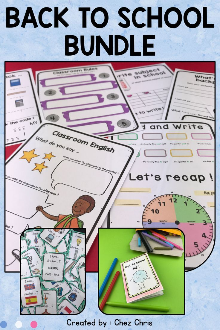 Are You Looking For Activities And Worksheets For Back To School I Have Everything You N School Lesson Plans Esl Teaching Resources School Supplies 7th Grade