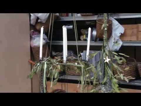 Lav et Juletræ af græs, med Elisabeth Bønløkke - YouTube