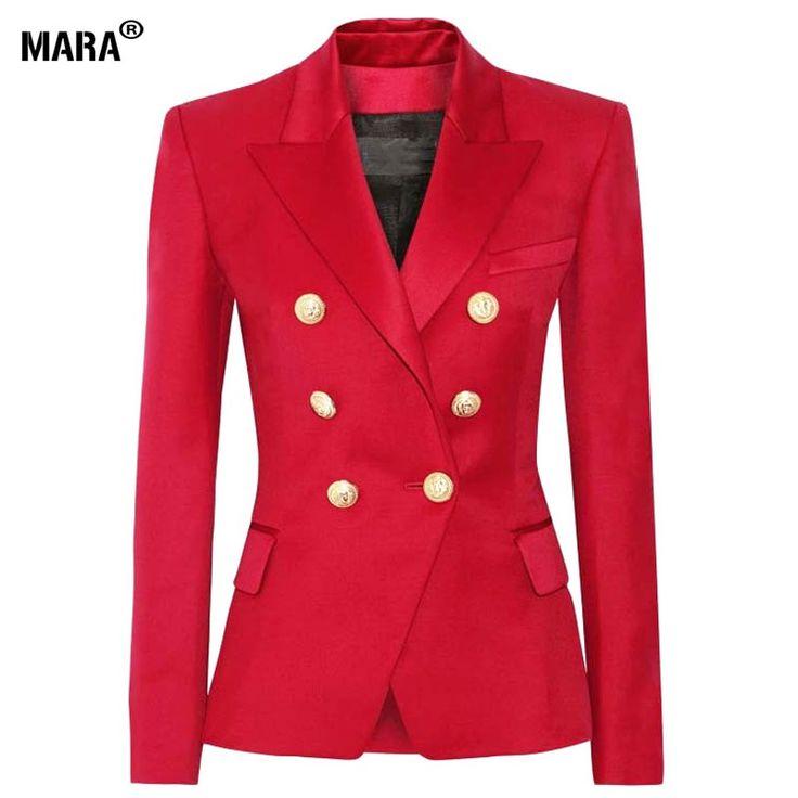 Купить товарПиджак пиджак костюмы 2016 женщины тонкий Blaser двубортный зубчатый дизайн красный пиджак Feminino женский костюм женщины рабочая одежда в категории Спортивные курткина AliExpress.                                                 Пиджак пидж%