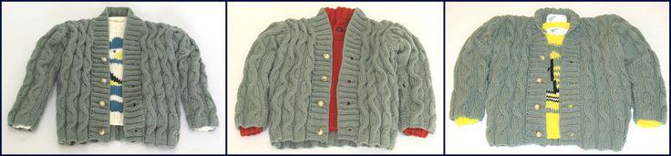 Casaco Lã Entrançado para rapaz - 100% merino lã superwash