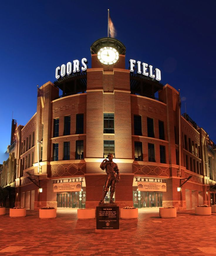 Colorado Rockies:  Coors Field.  This has been the home of the Rockies since 1995.
