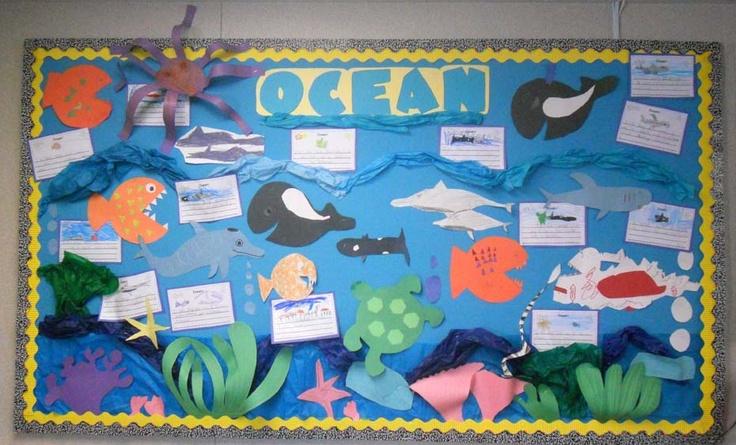 ocean bulletin board ideas | First Class Teacher: Oceans