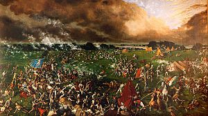 The Battle of San Jacinto, fought on April 21, 1836, was the decisive battle of the Texas Revolution. Led by General Sam Houston, the Texian Army engaged and defeated General Antonio López de Santa Anna's Mexican forces in a fight that lasted just eighteen minutes. About 630 of the Mexican soldiers were killed and 730 captured, while only nine Texans died.