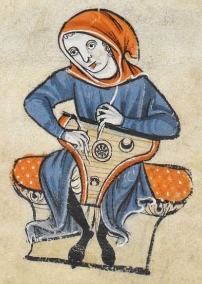 """Detail from """"The Rutland Psalter"""", medieval (c1260), British Library Add MS 62925. f 73v"""