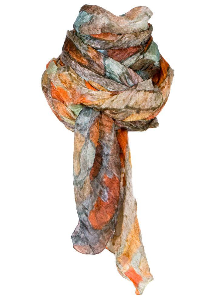 By Birdie Silketørklæde - Silk Art Scarf - Muratura Bellisima – Acorns