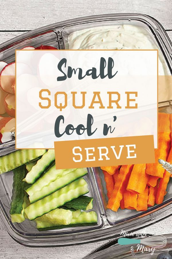 Pampered Chef Small Square Cool N Serve The Fun Sized Small