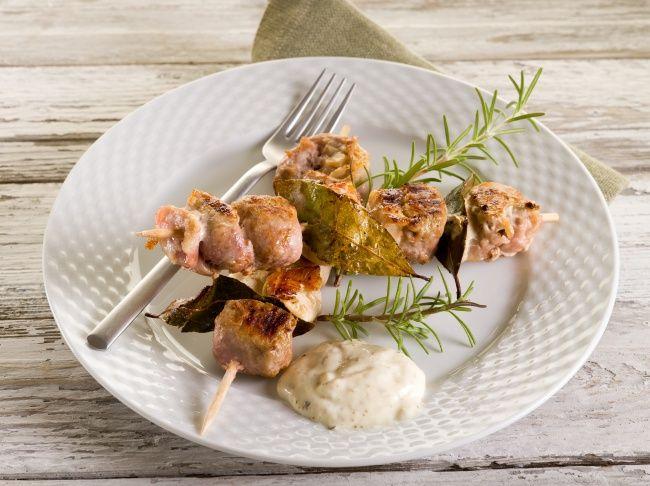 Куриные шашлычки в розмариново-апельсиновом маринаде на сковородке-гриль