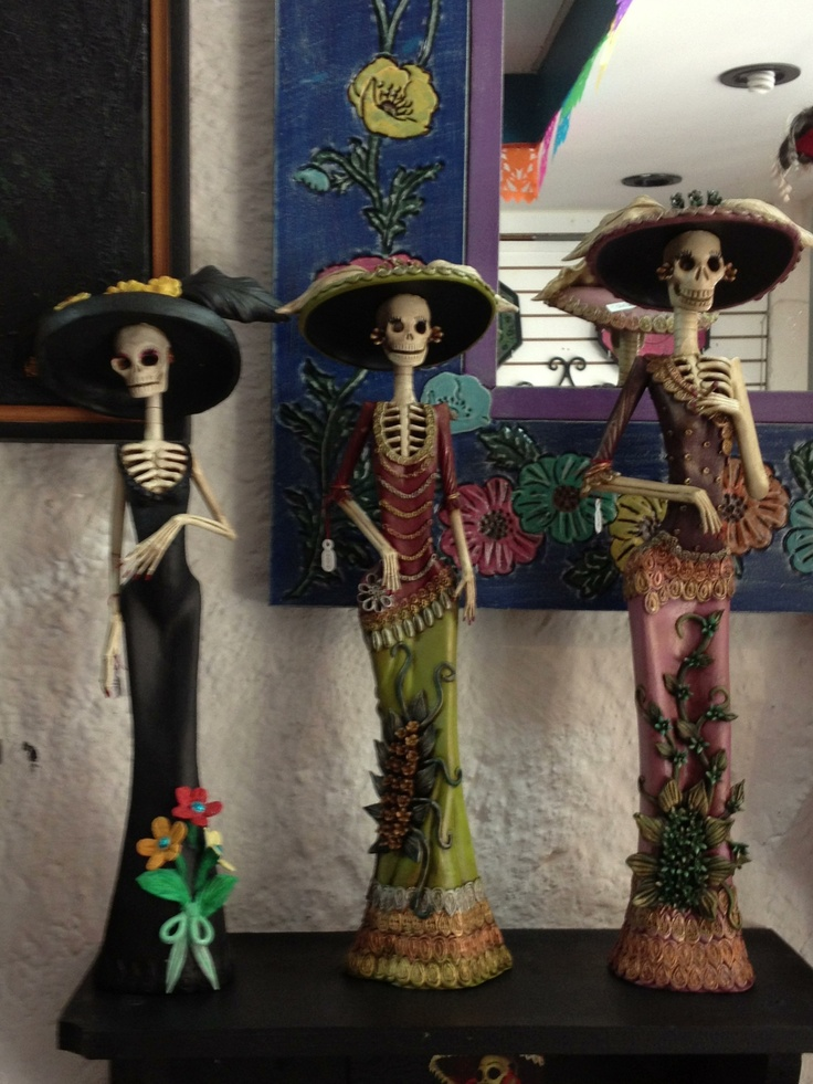 Day of the dead Catrinas. Zihua Mexico