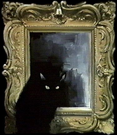 """Painting for the Night Gallery episode """"The Painted Mirror"""". By Tom Wright"""