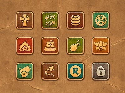 iPhone Game icons periwinkle28