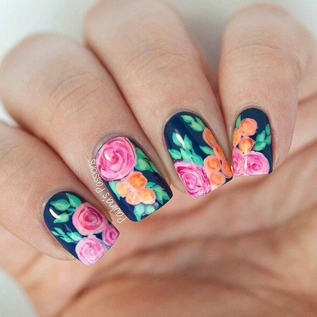 Flower On  Nail Designs