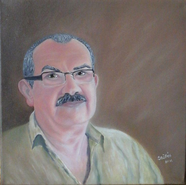 created by: (Kovácsné) Szöllős Éva    Portrait - oil, 30x30 cm canvas