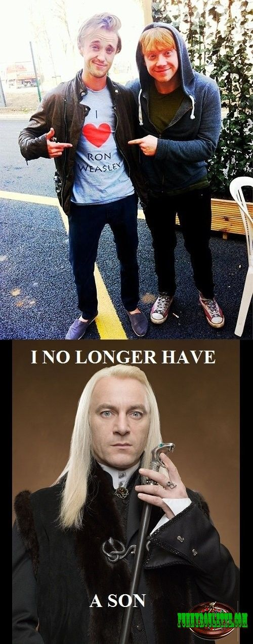 LOL! Check this out Looks like it s time for new Malfoy heir