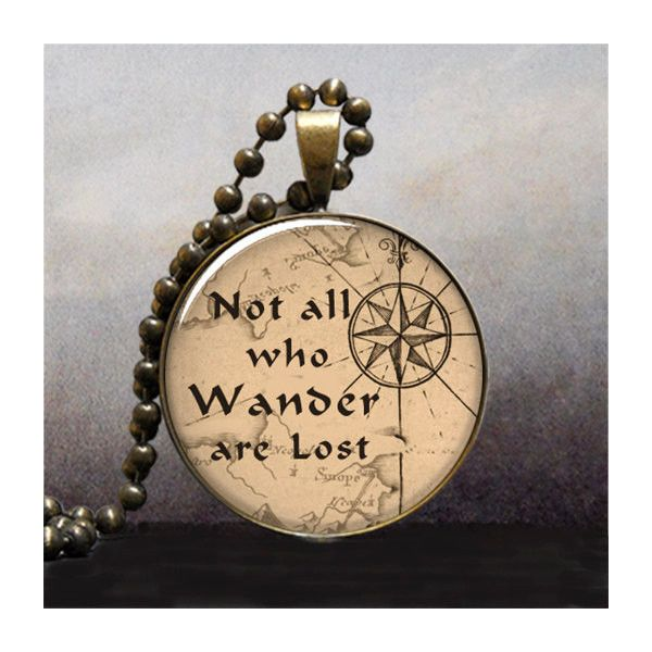 Not All Who Wander are Lost quote pendant, Lord of the Rings jewelry,... ($9.25) ❤ liked on Polyvore featuring jewelry, pendants, necklaces, accessories, jewels, words, charm pendant, antique jewelry, antique jewellery y rose jewelry