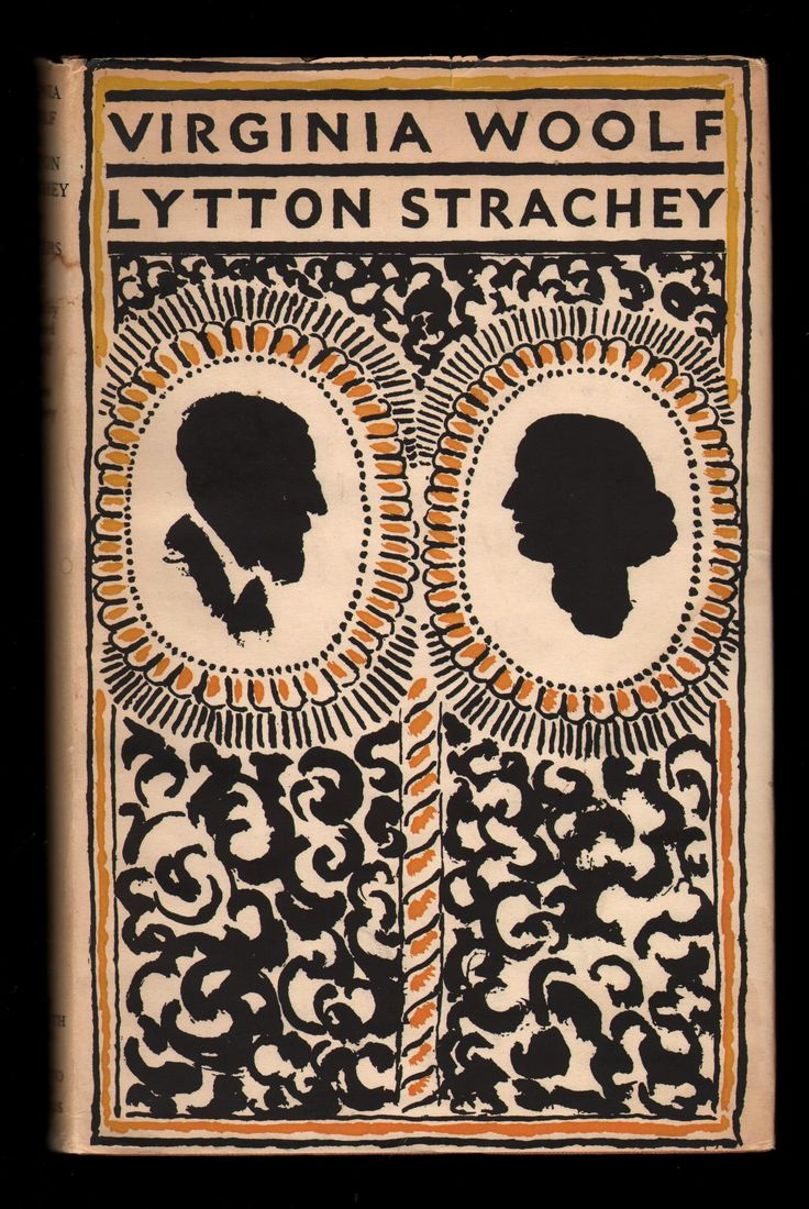 Virginia Woolf, Lytton Strachey, Letters, The Hogarth Press, 1956. Jacket by Vanessa Bell. #Bloomsbury