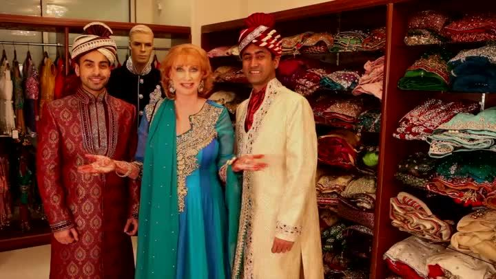 Video: What Does an Indian Groom Wear? An Indian groom can wear a few different things, including a traditional shahvani. Find out what an Indian groom wears with help from the President and Creative Director of Houston-based Electric Karma International in this free video clip.  Read more : http://www.ehow.com/video_12339409_indian-groom-wear.html